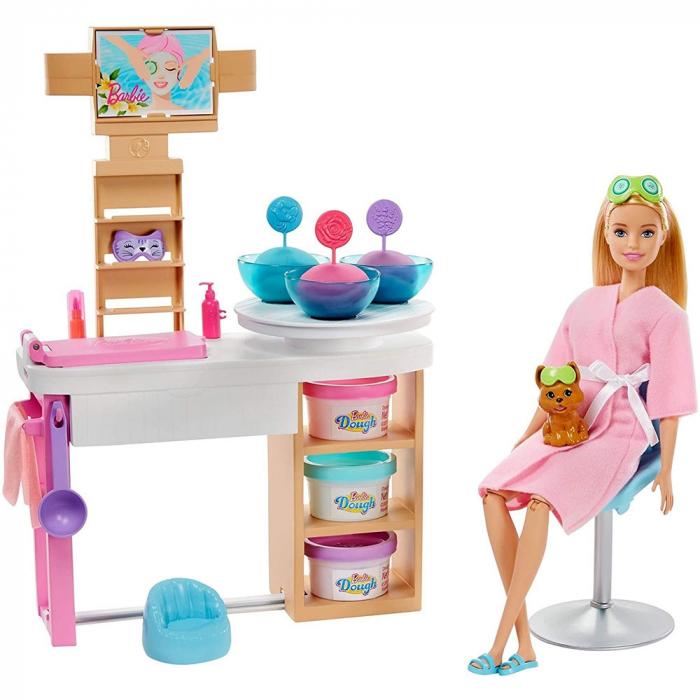 Set Barbie by Mattel Wellness and Fitness O zi la salonul Spa papusa cu figurina si accesorii [0]