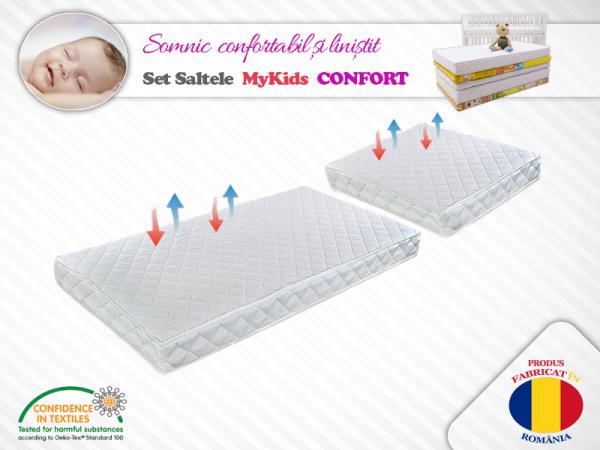 Set saltele MyKids Cocos Confort 120X70X10 50X70X10 Microfibra 0