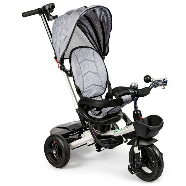 Tricicleta cu sezut reversibil Ecotoys JM-311 - Gri 0