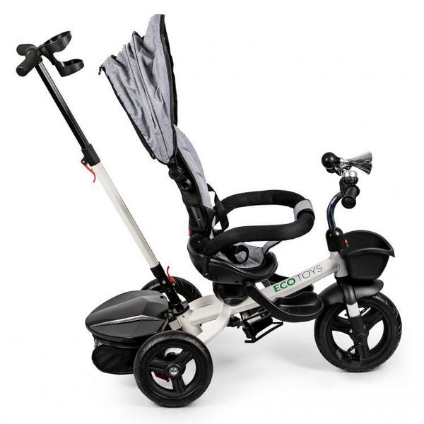 Tricicleta cu sezut reversibil Ecotoys JM-311 - Gri 2