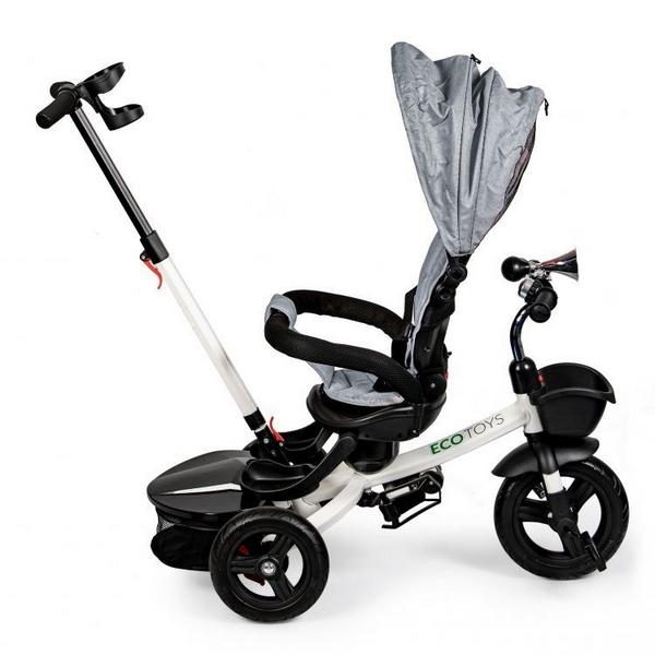 Tricicleta cu sezut reversibil Ecotoys JM-311 - Gri 3