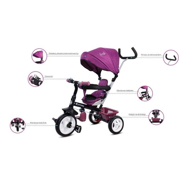 Tricicleta cu sezut reversibil Sun Baby 017 Fresh 360 11