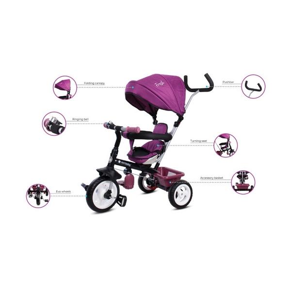 Tricicleta cu sezut reversibil Sun Baby 017 Fresh 360 12