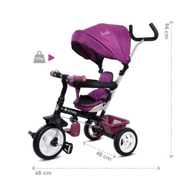 Tricicleta cu sezut reversibil Sun Baby 017 Fresh 360 13