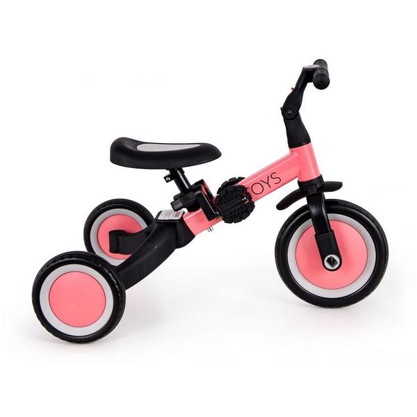 Tricicleta echilibru cu pedale ECOTOYS TR001, 4 in 1, roz 1