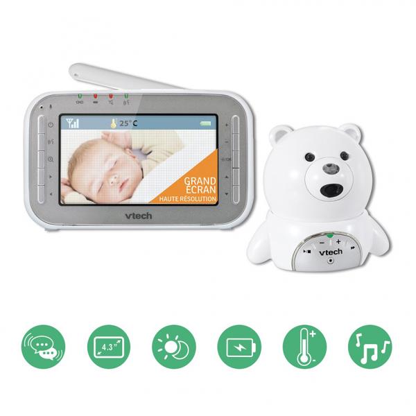 Videointerfon digital bidirectional 4,3 inch BM4200, include melodii si termometru - Vtech [3]