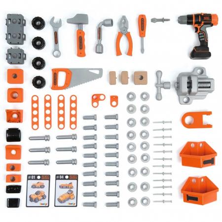 Atelier Smoby Black & Decker Bricolo Ultimate cu accesorii [1]