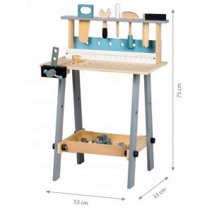 Banc de lucru cu unelte din lemn cu 32 de elemente Ecotoys 1172 [4]