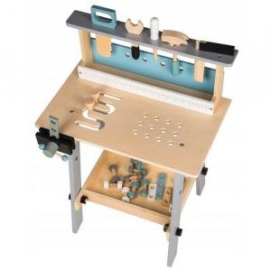 Banc de lucru cu unelte din lemn cu 32 de elemente Ecotoys 1172 [1]