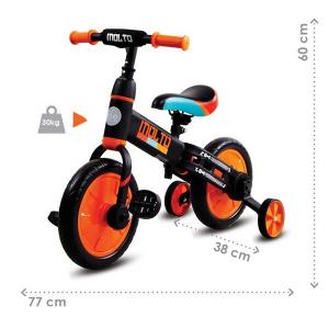 Bicicleta cu sau fara pedale si roti ajutatoare Sun Baby Molto 0147
