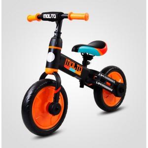 Bicicleta cu sau fara pedale si roti ajutatoare Sun Baby Molto 0143