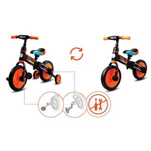 Bicicleta cu sau fara pedale si roti ajutatoare Sun Baby Molto 0148