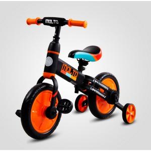 Bicicleta cu sau fara pedale si roti ajutatoare Sun Baby Molto 0142