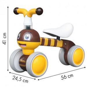 Bicicleta fara pedale Ecotoys Albinuta LC-V1308 - Galben5