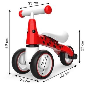Bicicleta fara pedale ECOTOYS Buburuza LB1603 - Rosu6