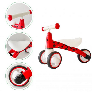 Bicicleta fara pedale ECOTOYS Buburuza LB1603 - Rosu5