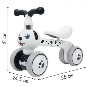 Bicicleta fara pedale Ecotoys Catel LC-V1308 - Alb5