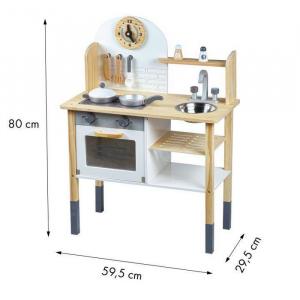 Bucatarie din lemn cu accesorii Ecotoys TL80021 [3]