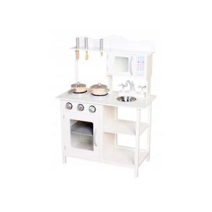 Bucatarie din lemn Ecotoys TK040 white + accesorii bucatarie - Alb0