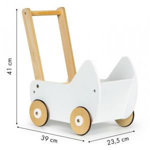 Carucior pentru papusi din lemn Ecotoys ESC-W-0173 [4]