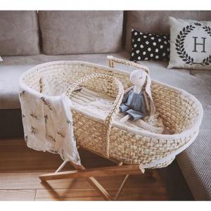 Cosulet bebe pentru dormit handmade din material ecologic Ahoj Baby natur [1]