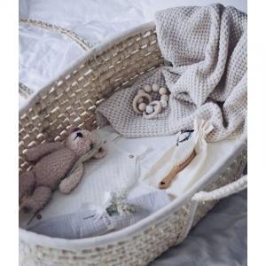 Cosulet bebe pentru dormit handmade din material ecologic Ahoj Baby natur [5]