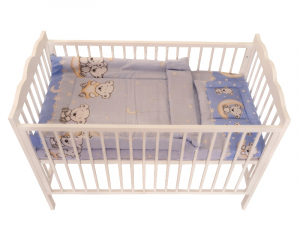 Lenjerie MyKids Bear On Moon Blue M2 4+1 Piese 120x605