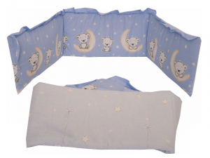 Lenjerie MyKids Bear On Moon Blue M2 4+1 Piese 120x609