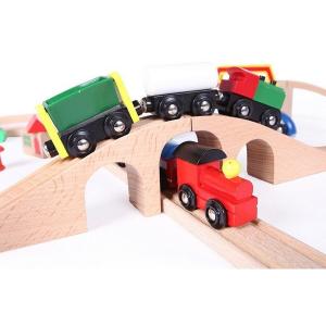 Linie de tren din lemn Ecotoys4