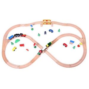 Linie de tren din lemn Ecotoys1