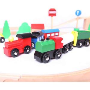Linie de tren din lemn Ecotoys3