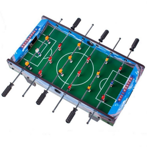 Masa de fotbal din lemn Ecotoys 70 x 36 x 24 cm - Albastru [1]