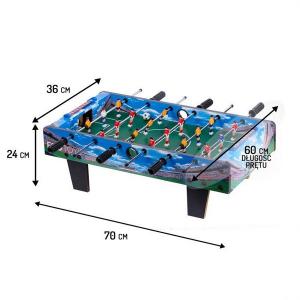 Masa de fotbal din lemn Ecotoys 70 x 36 x 24 cm - Albastru [5]