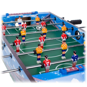 Masa de fotbal din lemn Ecotoys 70 x 36 x 24 cm - Albastru [3]