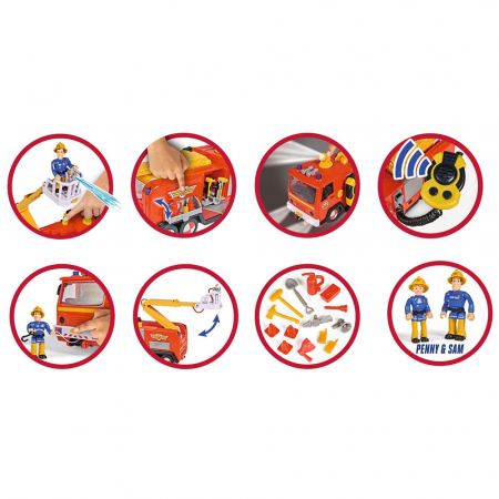 Masina de pompieri Simba Fireman Sam Mega Deluxe Jupiter cu 2 figurine si accesorii [4]