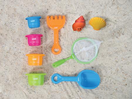 Pachet-Minipiscina de plaja cu jucarii 123 SOARE+Cort UV50 Sun Set [3]