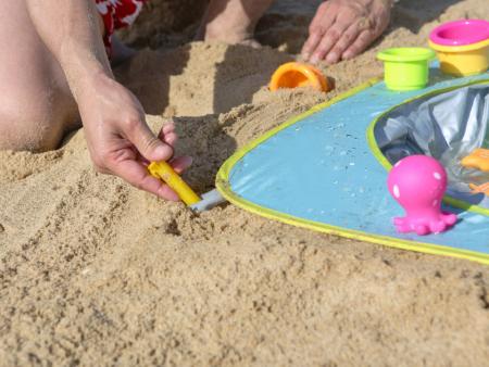Pachet-Minipiscina de plaja cu jucarii 123 SOARE+Cort UV50 Sun Set [2]