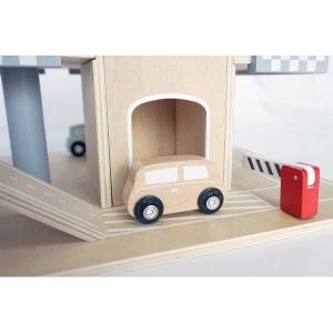 Parcare din lemn cu etaje si lift Ecotoys CA121042