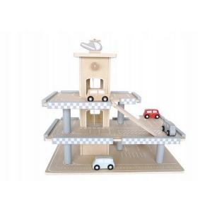Parcare din lemn cu etaje si lift Ecotoys CA121044