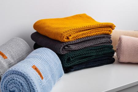 Paturica de bumbac tricotata Sensillo 100x80 cm [3]