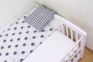 Patut co-sleeping 85x48 cm cu laterala culisanta Dreamy Mini Alb + saltea [8]