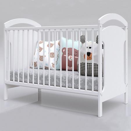 Patut copii din lemn Hubners Anita 120x60 cm alb [2]