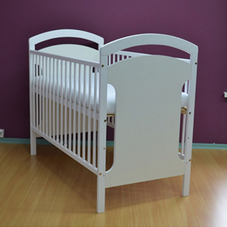 Patut copii din lemn Hubners Anita 120x60 cm alb [3]