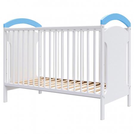 Patut copii din lemn Hubners Anita 120x60 cm alb-albastru [0]