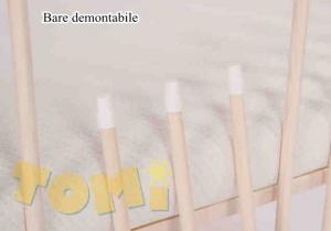 Patut din lemn pentru copii Tomi XI color cu laterala culisanta3