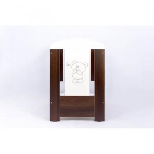 Patut Drewex Bear Culisant - Wenge + Saltea Cocos 12 Cm2