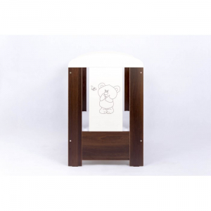Patut Drewex Bear Culisant - Wenge + Saltea Cocos 8 Cm2