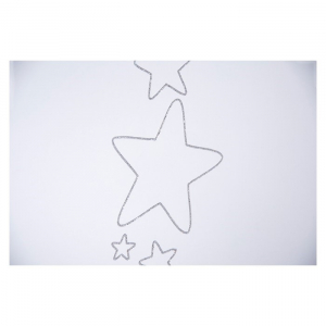 Patut Drewex Stars cu sertar - Silver + Saltea Cocos 12 cm3