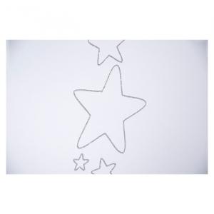 Patut Drewex Stars Culisant - Silver + Saltea Cocos 12 cm2