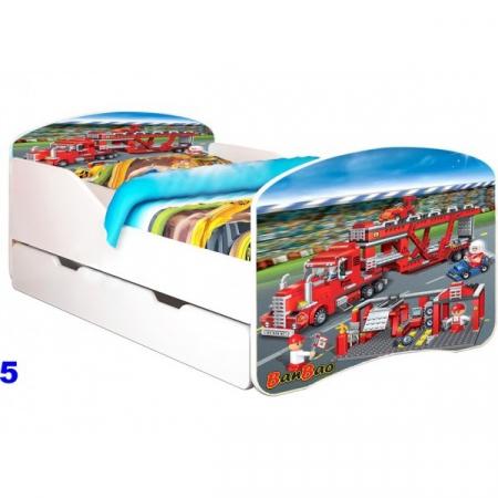 Patut Nobiko Rainbow Banbao Line 140 x 70 cu saltea si sertar0